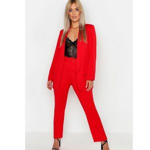 Plus Size Tailored Belted Trouser Suit